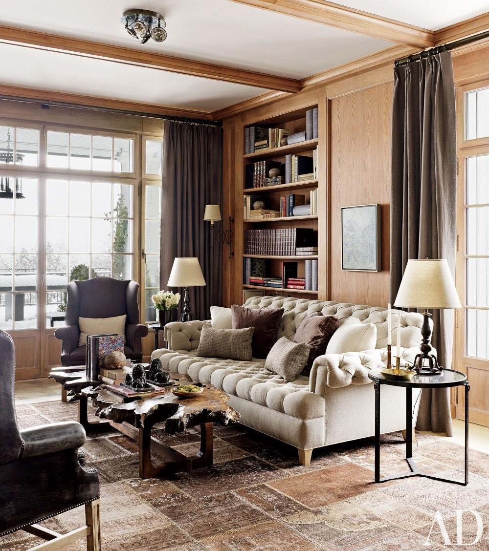 Rustic Office/Library by S. R. Gambrel Inc. and Mathis Meier Architekten in Zurich, Switzerland