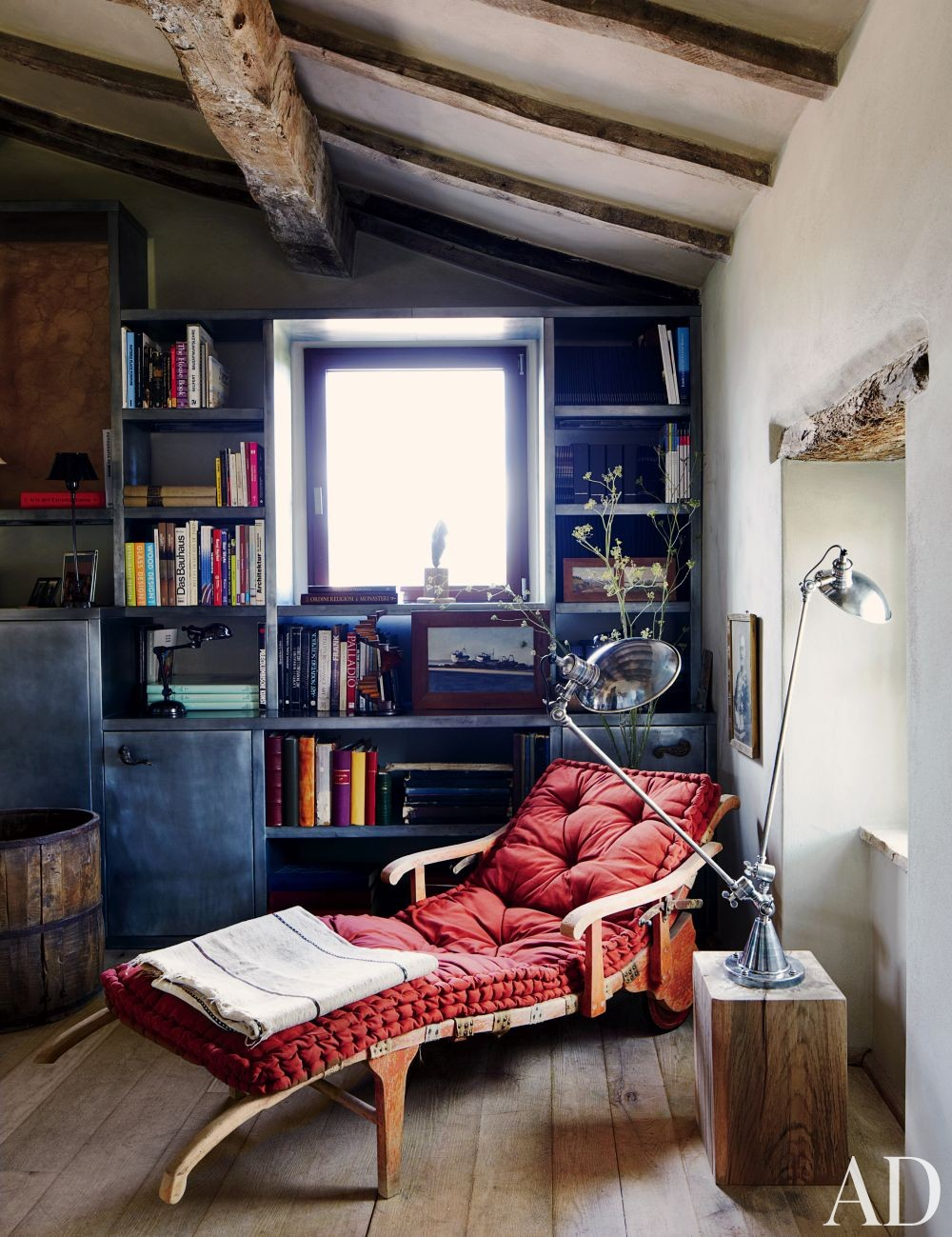 Rustic Office/Library and Benedikt Bolza in Umbria, Italy