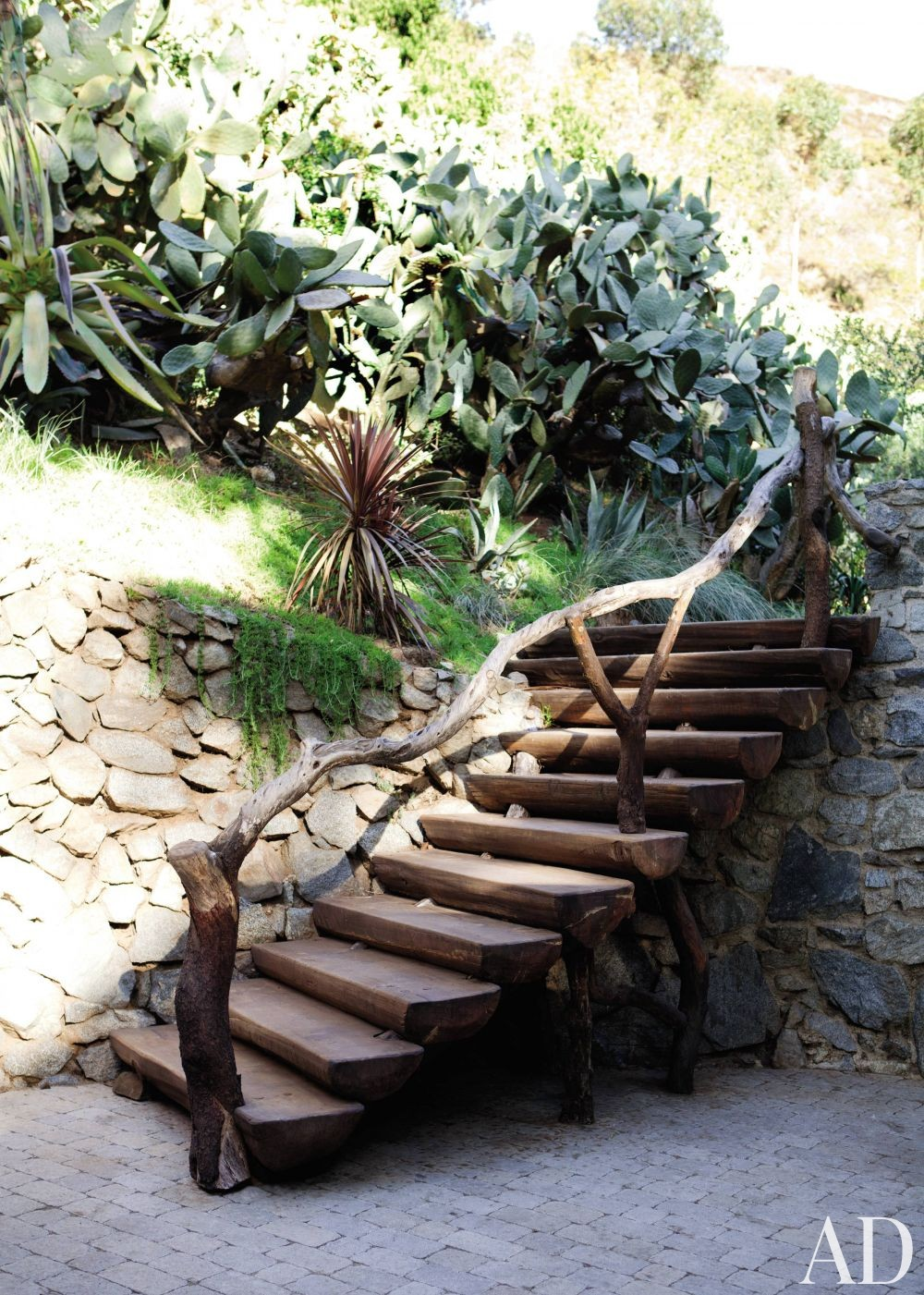 Rustic Outdoor Space in Hollywood Hills, California