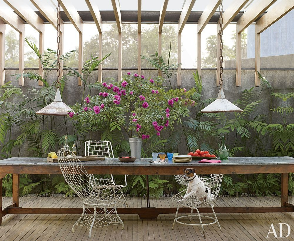 Rustic Outdoor Space by Isay Weinfeld in São Paulo, Brazil