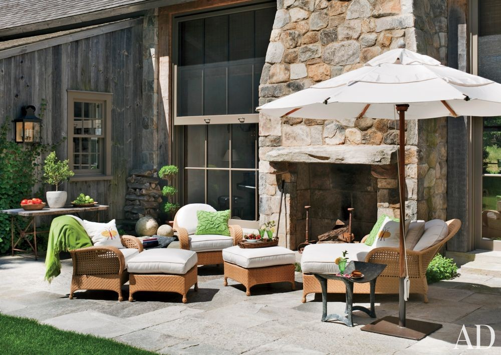 Rustic Outdoor Space by John Cottrell Co. and G. P. Schafer Architect in Litchfield County, Connecticut