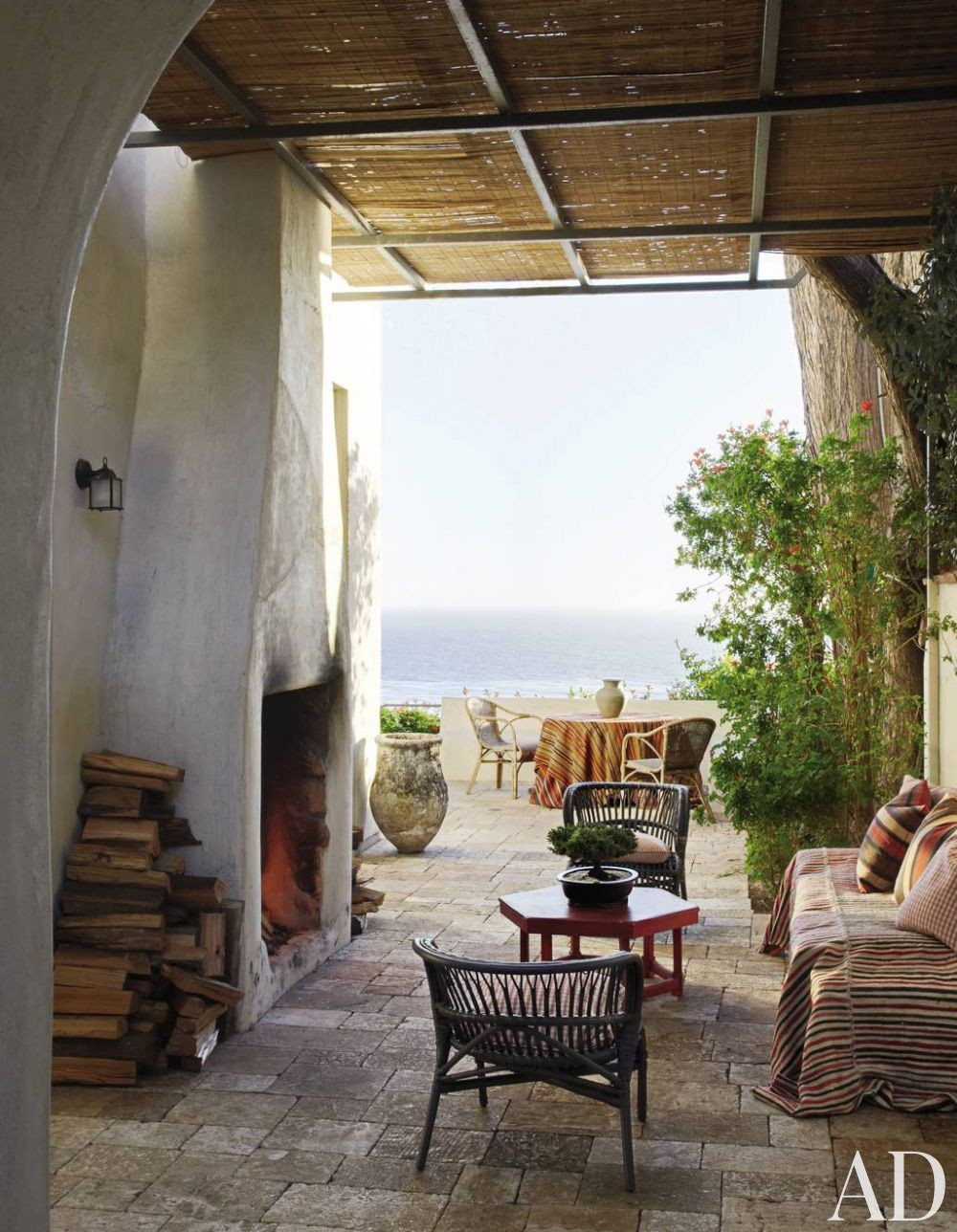 Rustic Outdoor Space by Richard Shapiro and Douglas W. Burdge in Malibu, CA