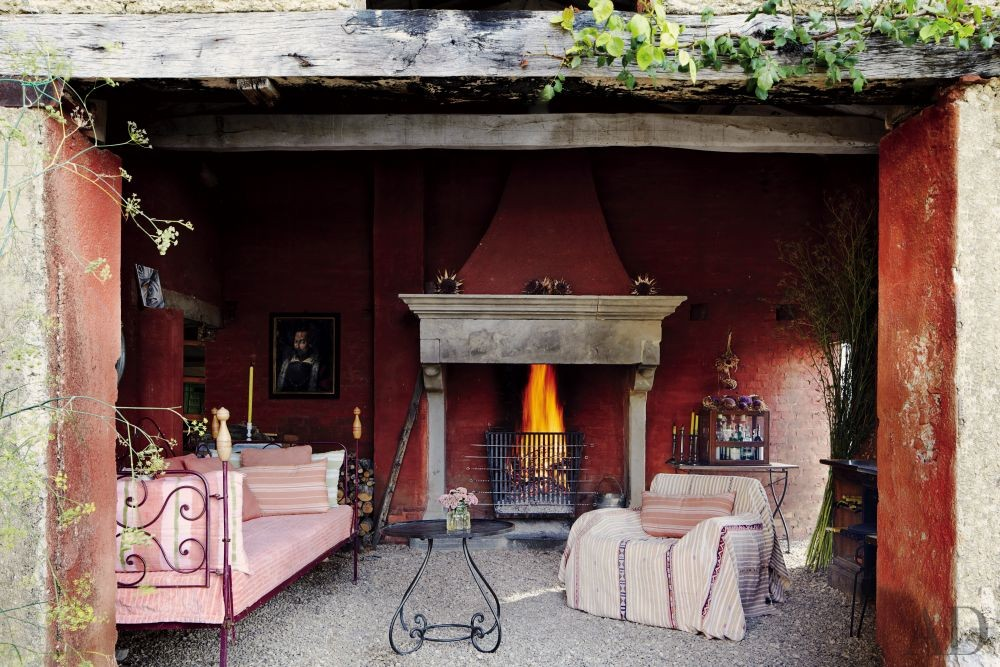 Rustic Outdoor Space and Benedikt Bolza in Umbria, Italy
