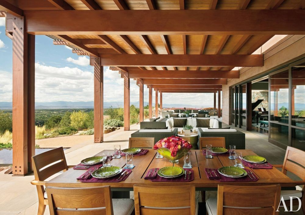 Rustic Outdoor Space by Wilson Associates and Overland Partners Architects in Santa Fe, New Mexico
