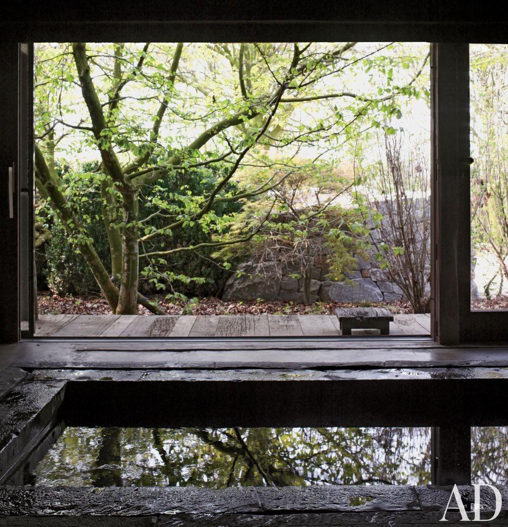 Rustic Pool by Axel Vervoordt in Belgium