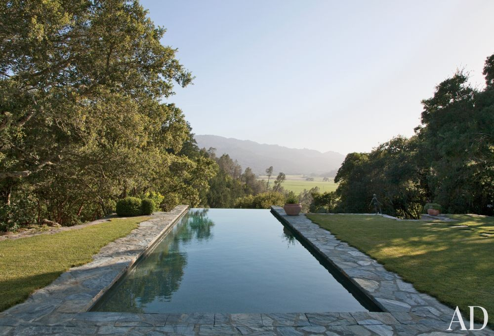 Rustic Pool by Rela Gleason and McAlpine Tankersley Architecture in Calistoga, California