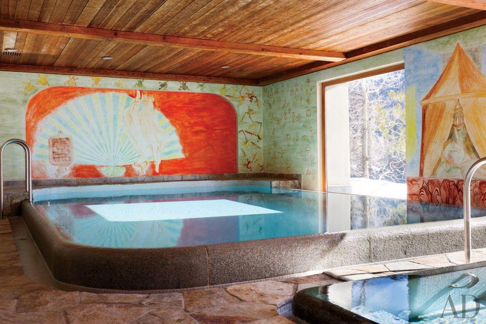 Rustic Pool by Studio Peregalli in Saint Moritz, Switzerland