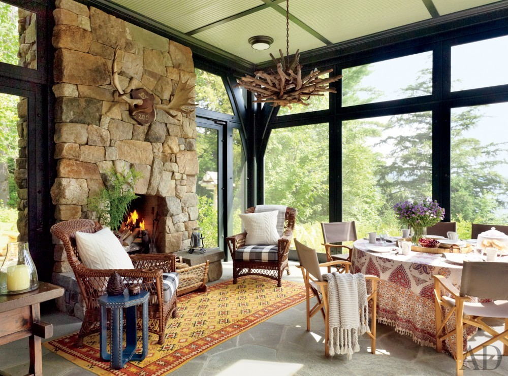 Rustic Porch By Thom Filicia By Architectural Digest