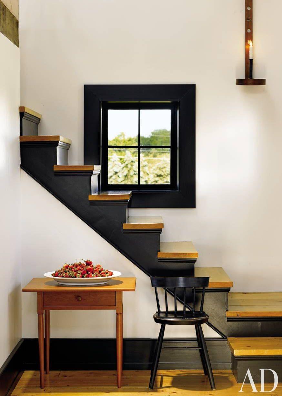 Rustic Staircase/Hallway by Mark Manardo and Barbara Balow and Bruce A. Calhoun in Michigan