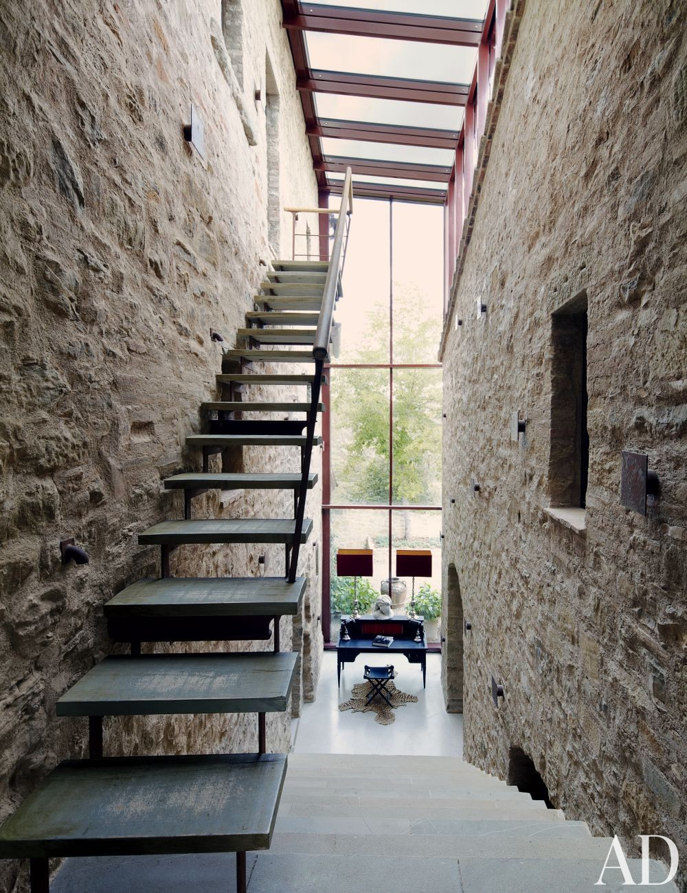Rustic Staircase/Hallway and Benedikt Bolza in Umbria, Italy