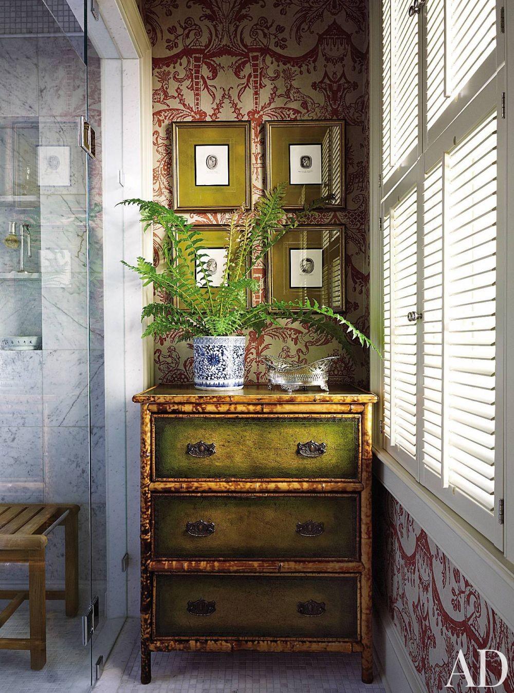 Traditional Bathroom by Alison Martin Interiors Ltd. and Jean Perin Interior Design in Virginia