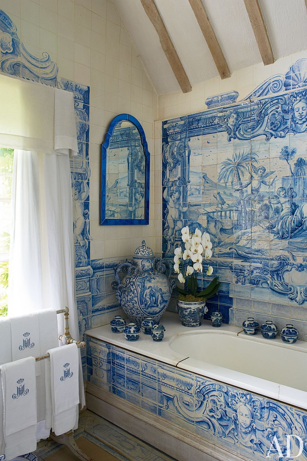 Traditional Bathroom by Anouska Hempel Design in Wiltshire, England