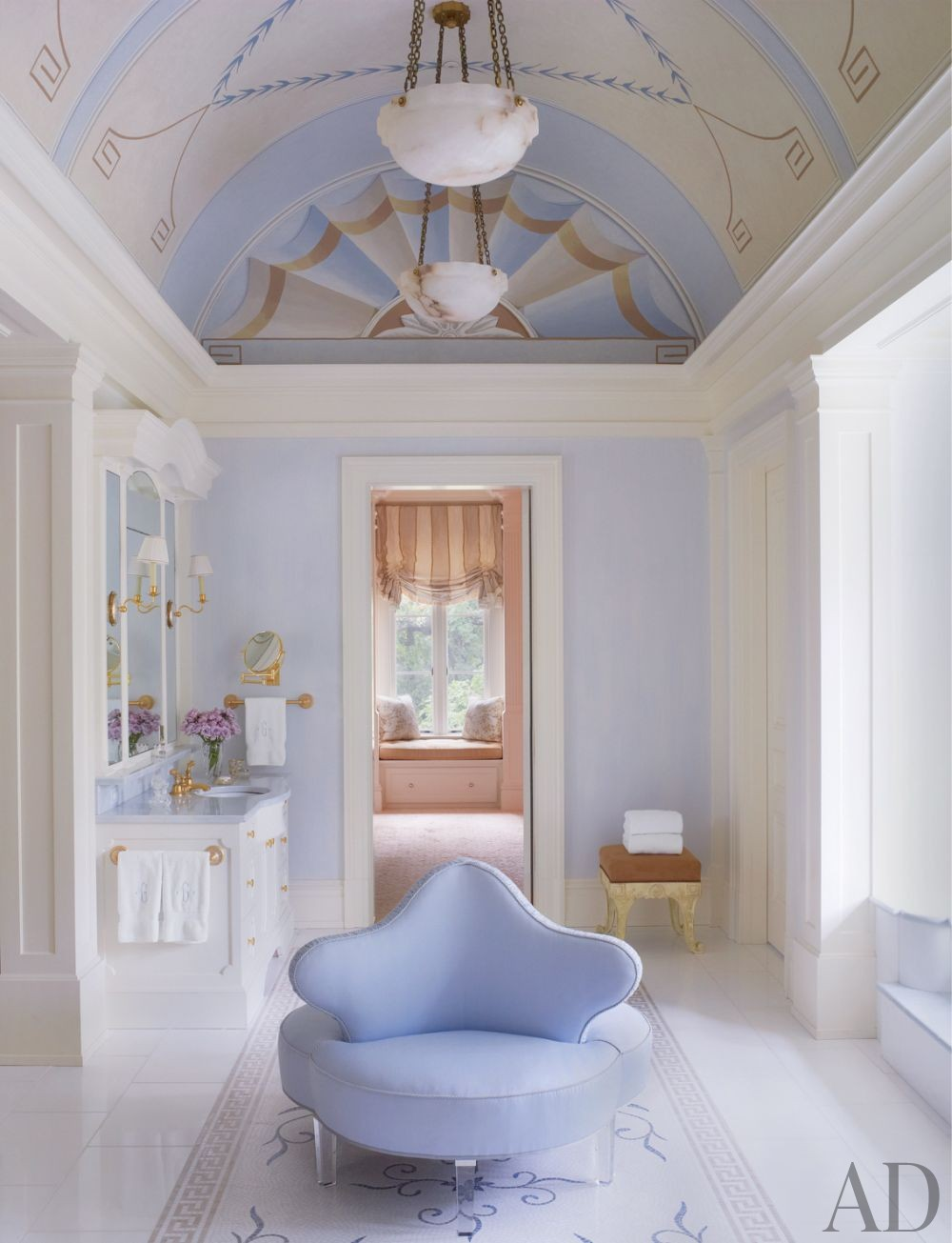 Traditional Bathroom by Bunny Williams Inc. and 3north in Richmond, Virginia