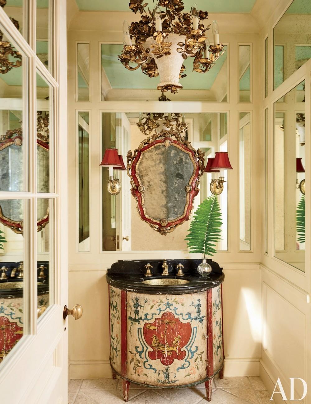 Traditional Bathroom by David Easton Inc. and Addison Mizner in Palm Beach, FL