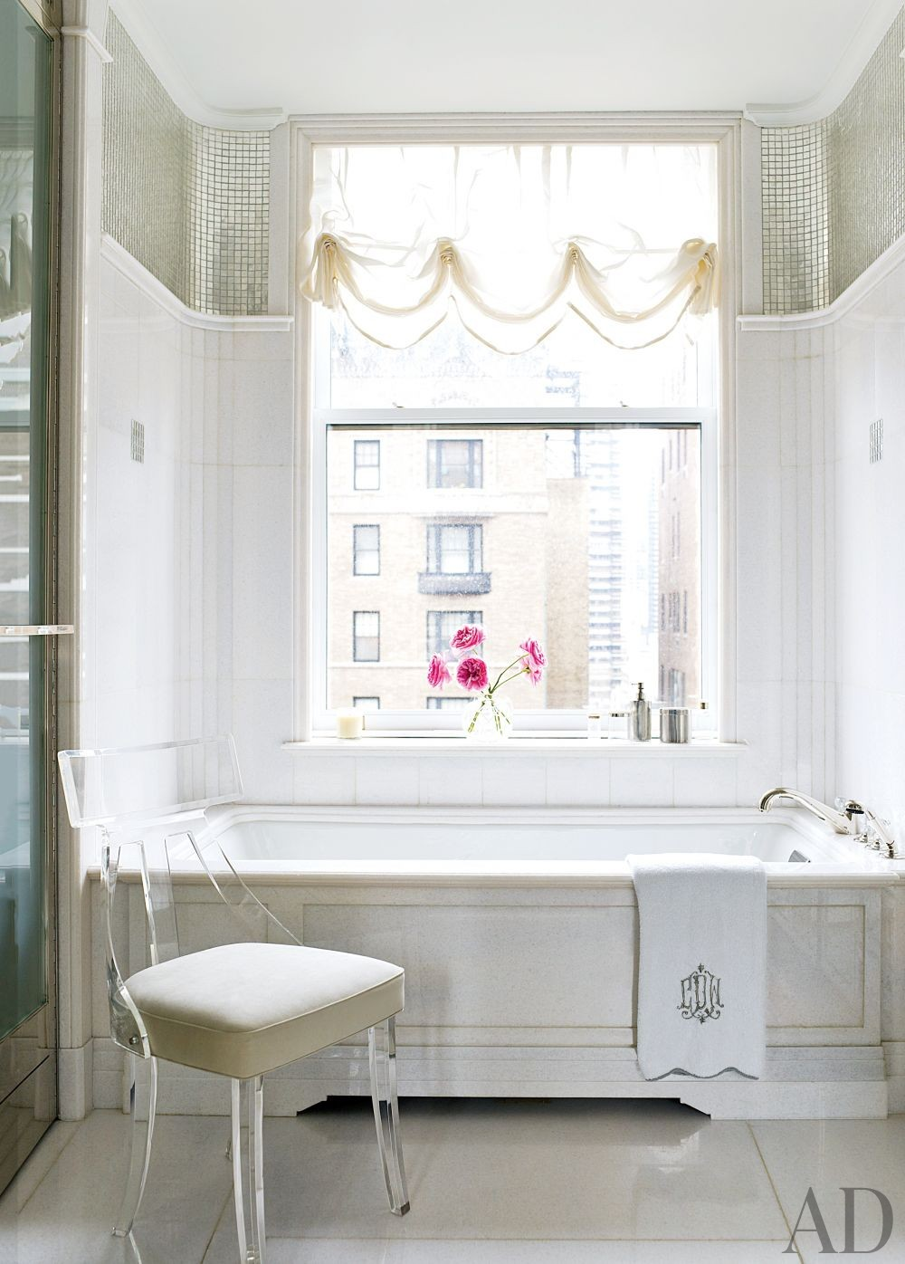 Traditional Bathroom by David Kleinberg Design Associates and David Kleinberg Design Associates in New York, New York