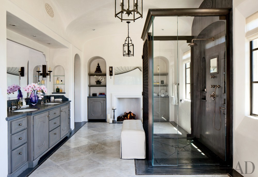 Traditional Bathroom by Joan Behnke & Associates Inc. and Landry Design Group Inc. in Los Angeles, California