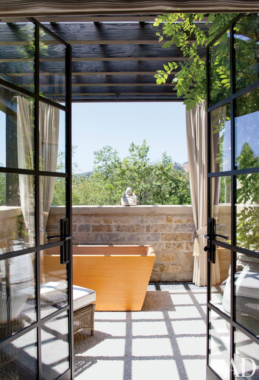 Traditional Bathroom by Joan Behnke & Associates Inc. and Landry Design Group Inc. in Los Angeles, California