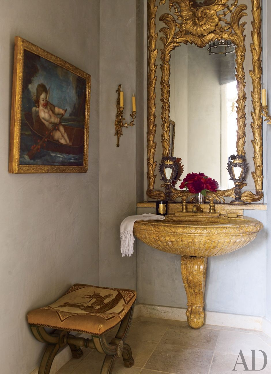 Traditional Bathroom by Kara Childress Inc. and Newberry Campa Architects in Houston, Texas