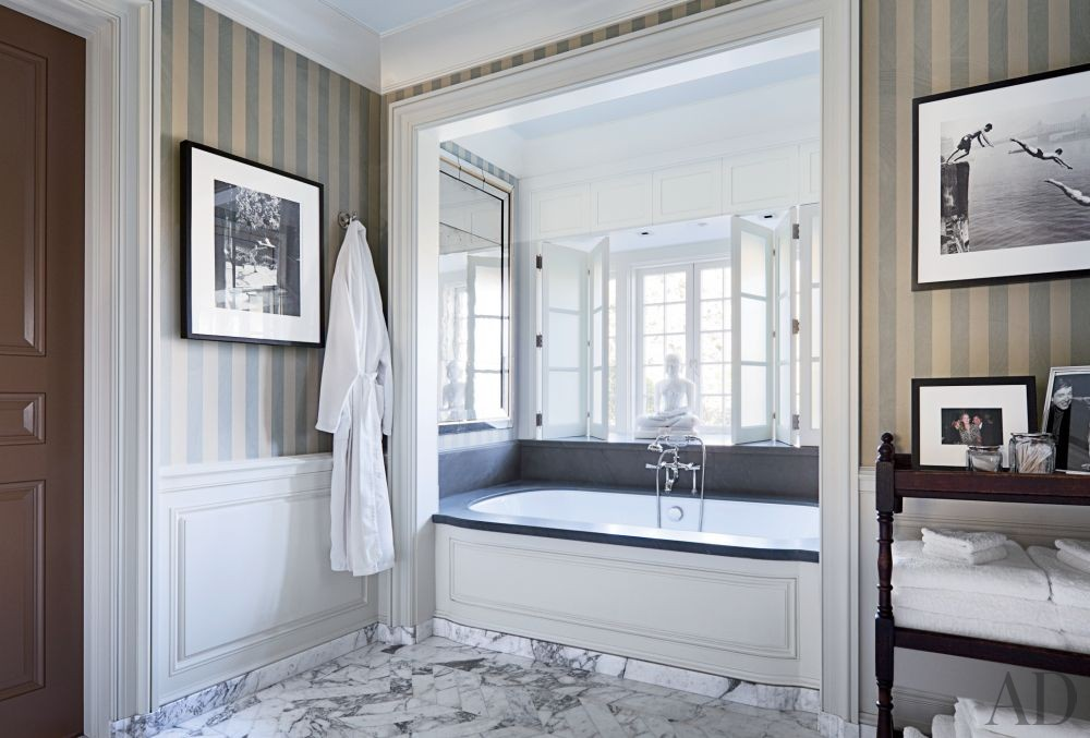 Traditional Bathroom by Michael S. Smith Inc. and Ferguson & Shamamian Architects in Beverly Hills, California