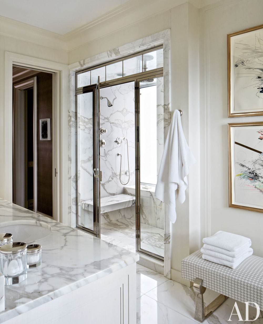 Traditional Bathroom by Michael S. Smith Inc. and Marvin Herman & Associates Architects in Chicago, Illinois