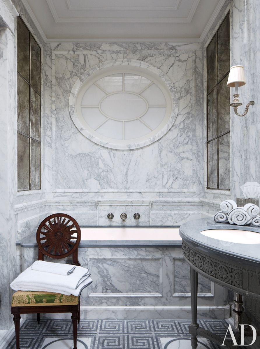 Traditional Bathroom by Michael S. Smith Inc. and Ferguson & Shamamian Architects in New York, New York