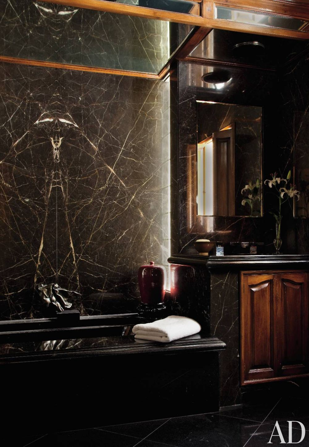 Traditional Bathroom by Philippe B. Oates Inc. in Hollywood, California