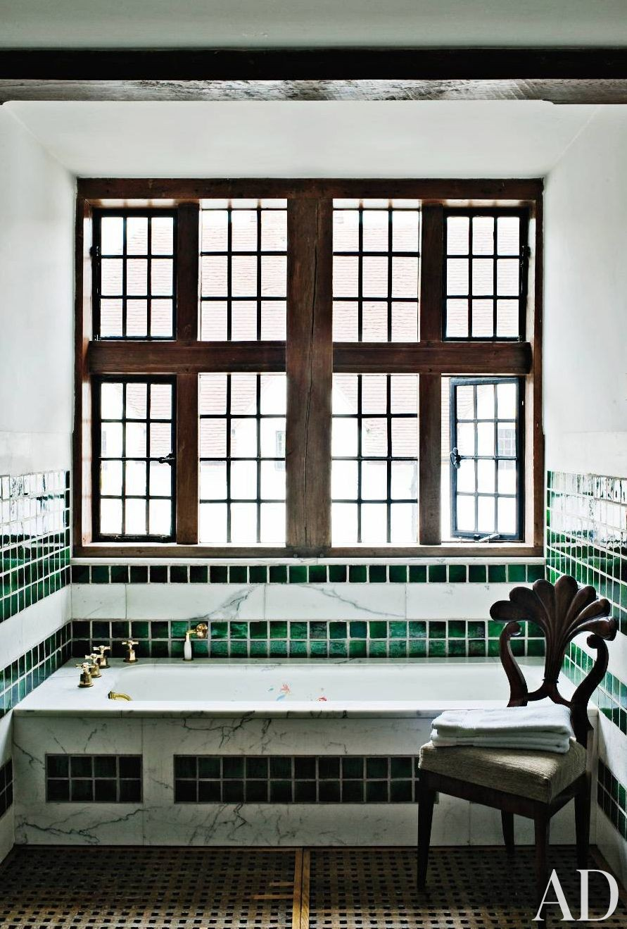 Traditional Bathroom by Robert Couturier Inc. and Edwin Luytens in Hampshire, England