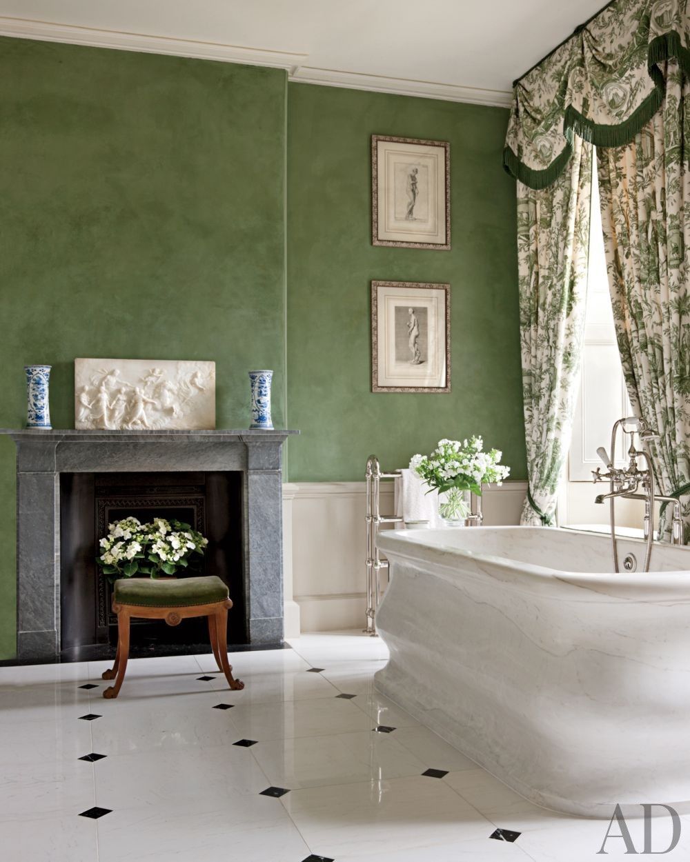 Traditional Bathroom by Spencer-Churchill Designs Inc. and Ptolemy Dean Architects Ltd. in Northamptonshire, England