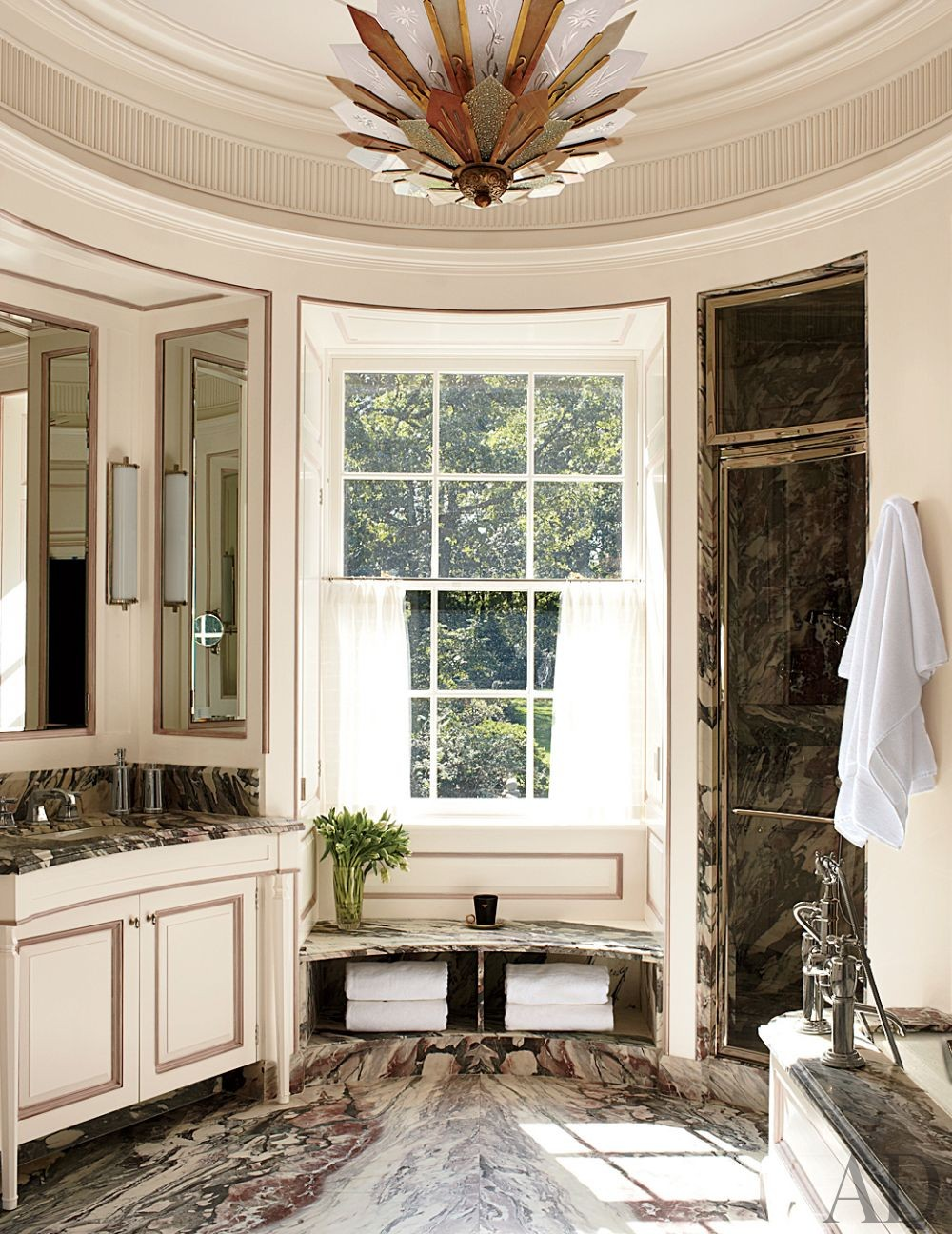 Traditional Bathroom by S.R. Gambrel Inc. and Oliver Cope Architect in Old Westbury, New York