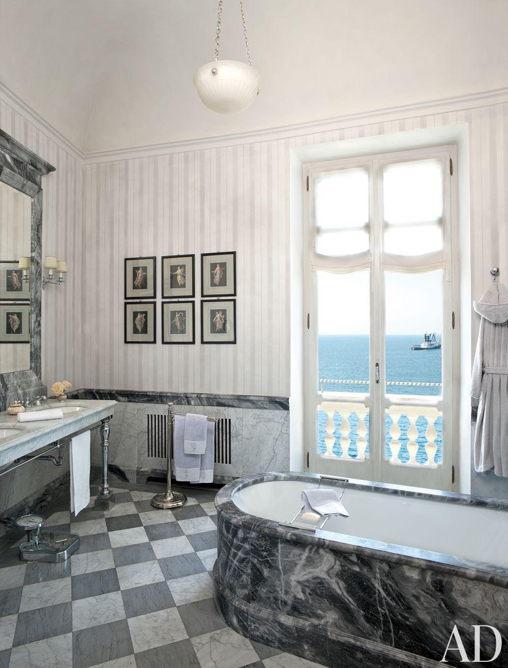 Traditional Bathroom by Studio Peregalli in Naples, Italy