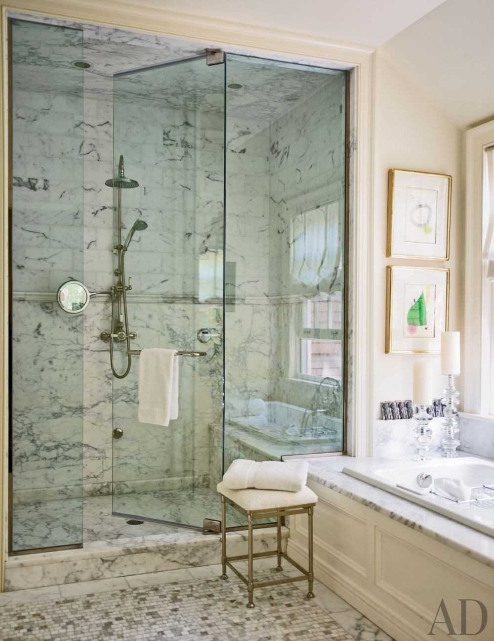Traditional Bathroom by Timothy Corrigan Inc. in Lake Forest, Illinois