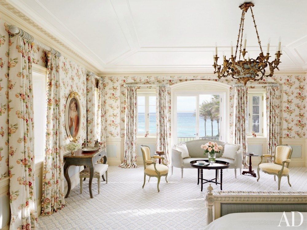Traditional Bedroom by David Easton Inc. and Addison Mizner in Palm Beach, FL