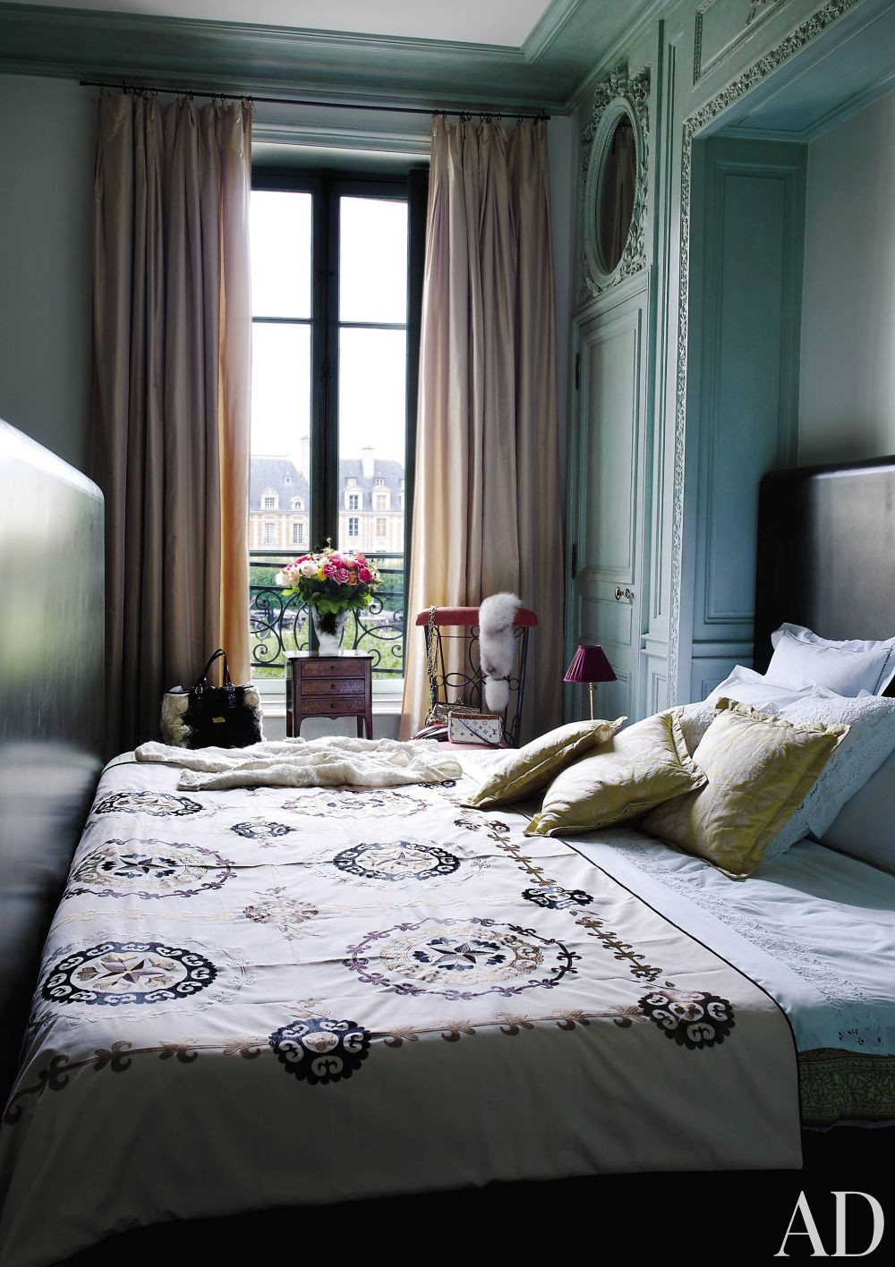 Traditional Bedroom by Jacques Garcia in Paris, France