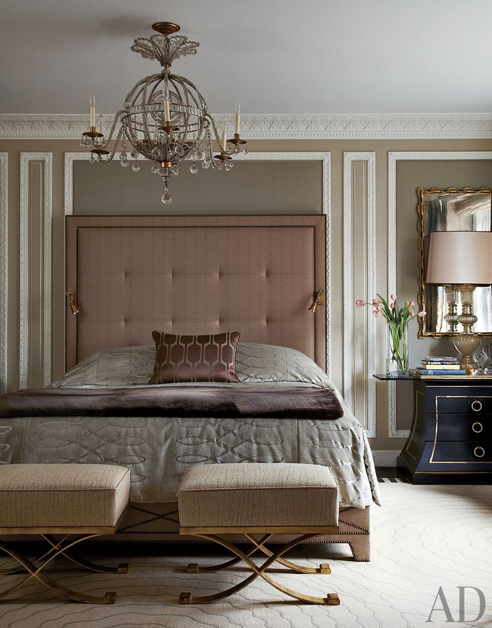 Traditional Bedroom by Jean-Louis Deniot in Chicago, Illinois