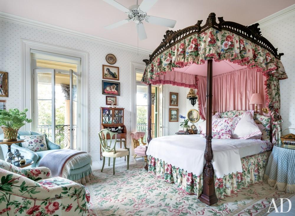 Traditional Bedroom by Mario Buatta in Charleston, South Carolina