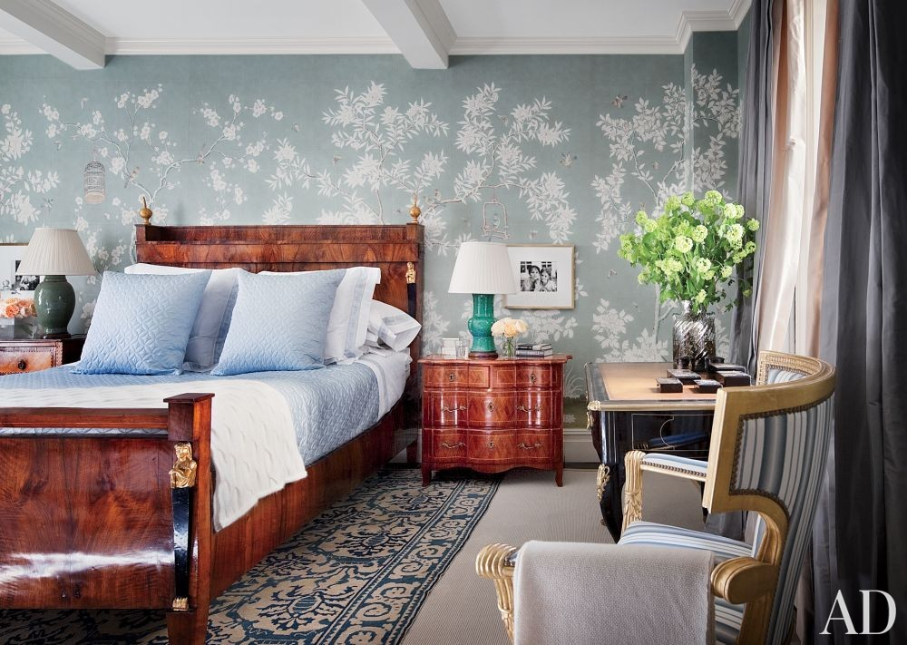Traditional Bedroom by Michael S. Smith Inc. in New York, New York