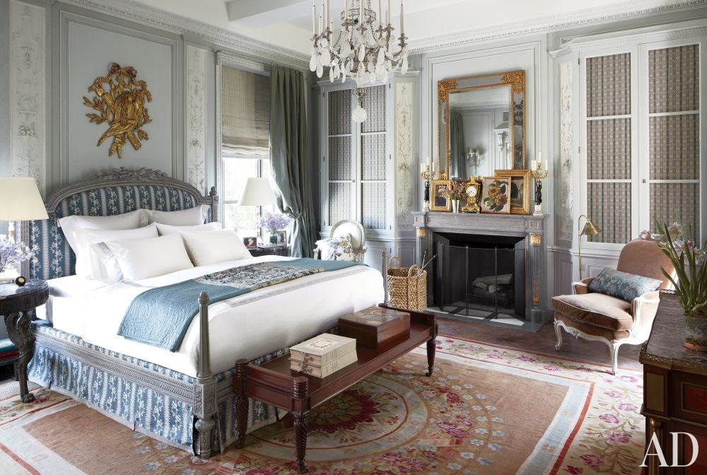 Traditional Bedroom by Michael S. Smith Inc. and Ferguson & Shamamian Architects in New York, New York