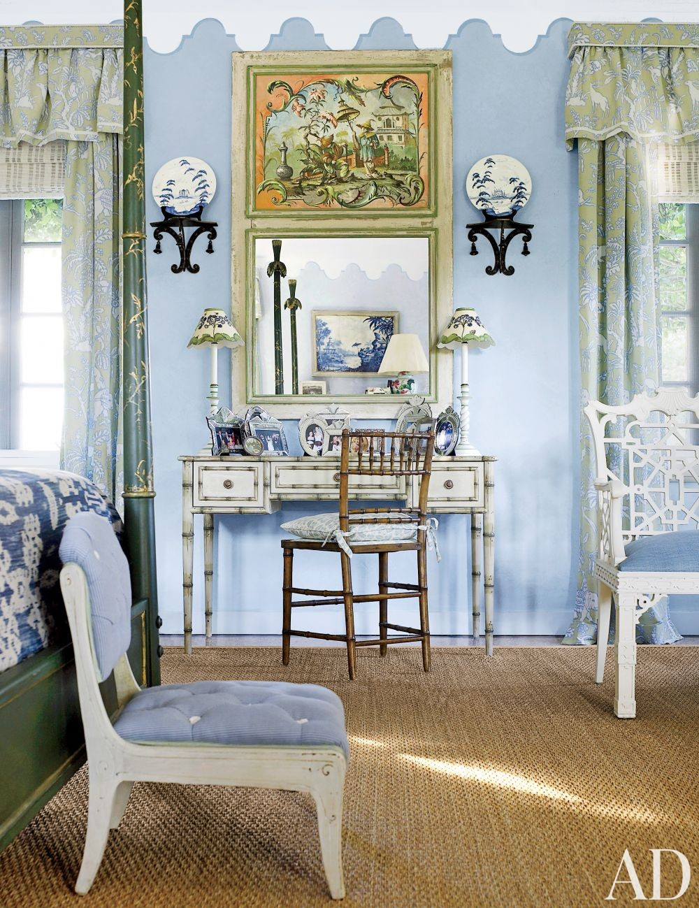 Traditional Bedroom by Nancy Morton and F. Burrall Hoffman Jr. in Boca Grande, Florida