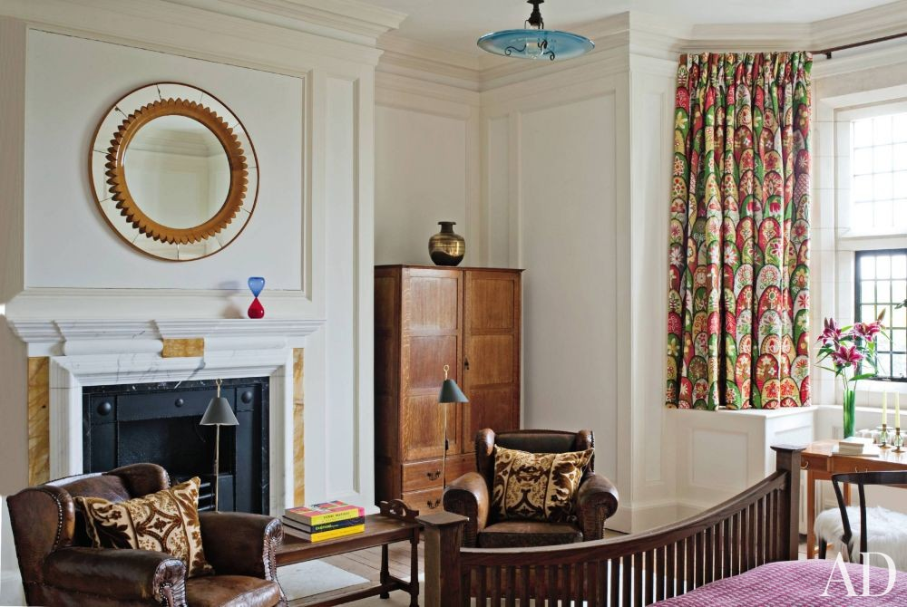 Traditional Bedroom by Robert Couturier Inc. and Edwin Luytens in Hampshire, England