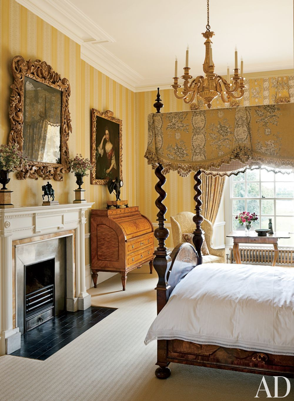Traditional Bedroom by Spencer-Churchill Designs Inc. and Ptolemy Dean Architects Ltd. in Northamptonshire, England