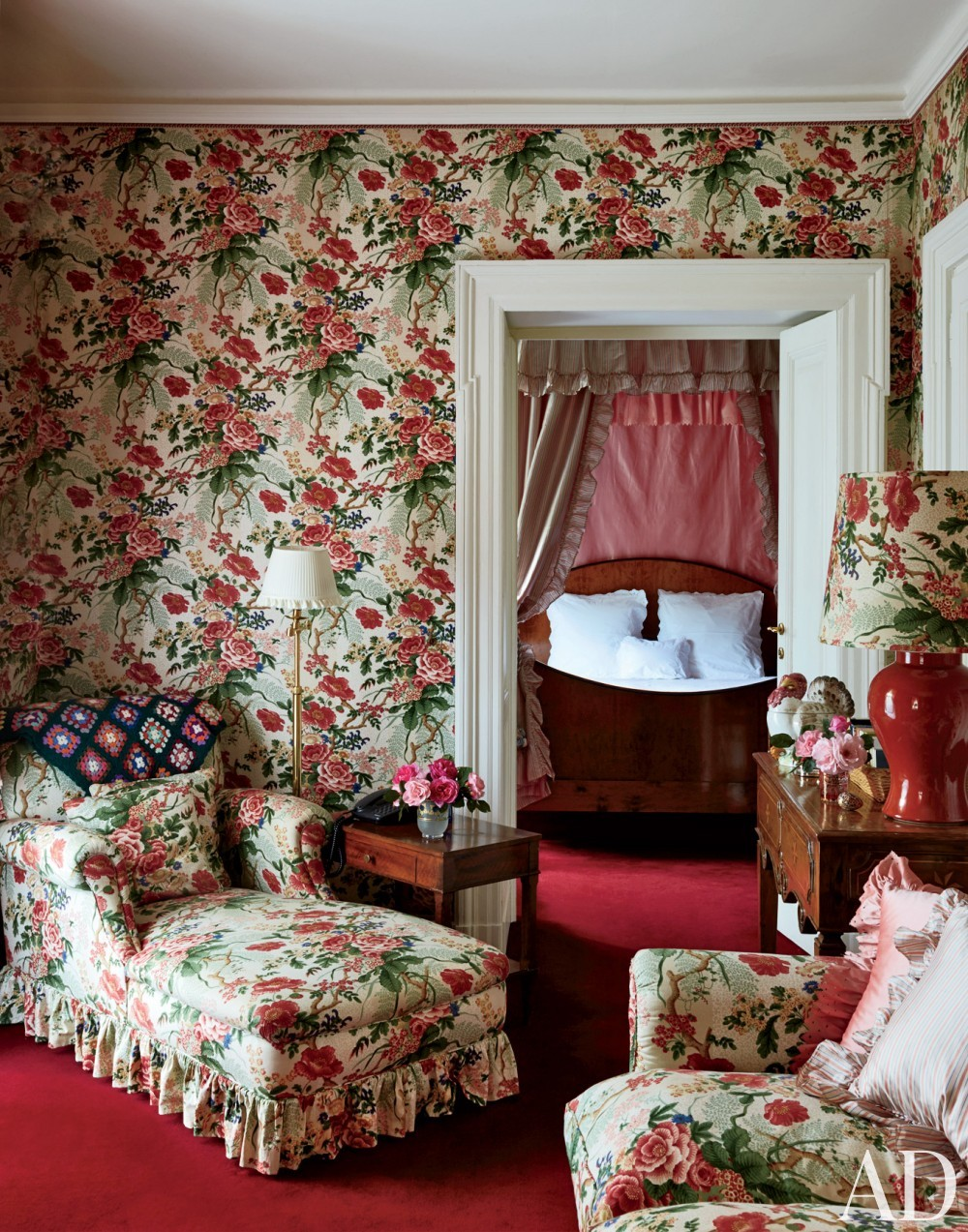 Traditional Bedroom by Stephane Boudin in Northern Italy