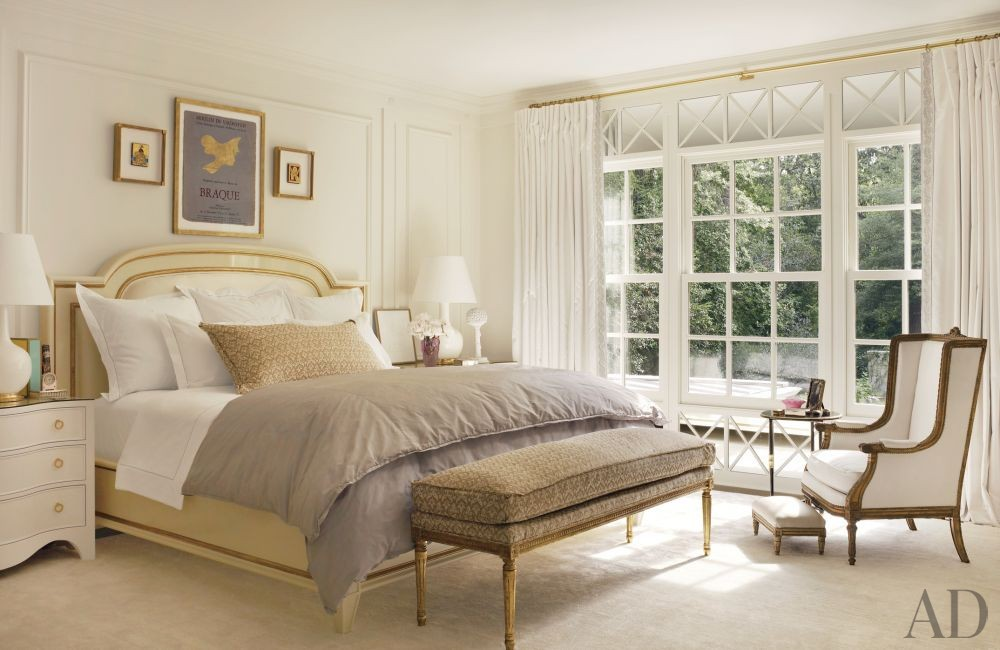 Traditional Bedroom by Suzanne Kasler Interiors and William T. Baker & Associates Ltd. in Atlanta, Georgia