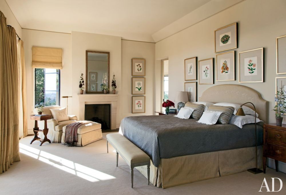 Traditional Bedroom by Suzanne Rheinstein & Assoc. and Manson-Hing Architecture in Montecito, California