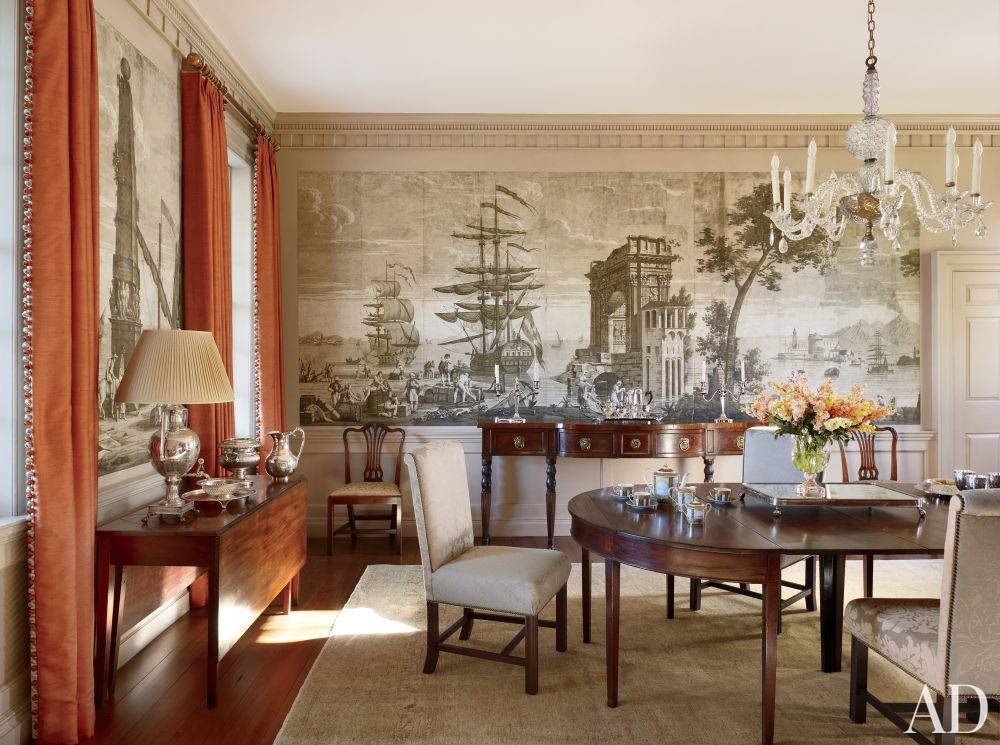 Traditional Dining Room by Amelia T. Handegan Inc. and Tidewater Preservation Inc. in Rappahannock Valley, Virginia
