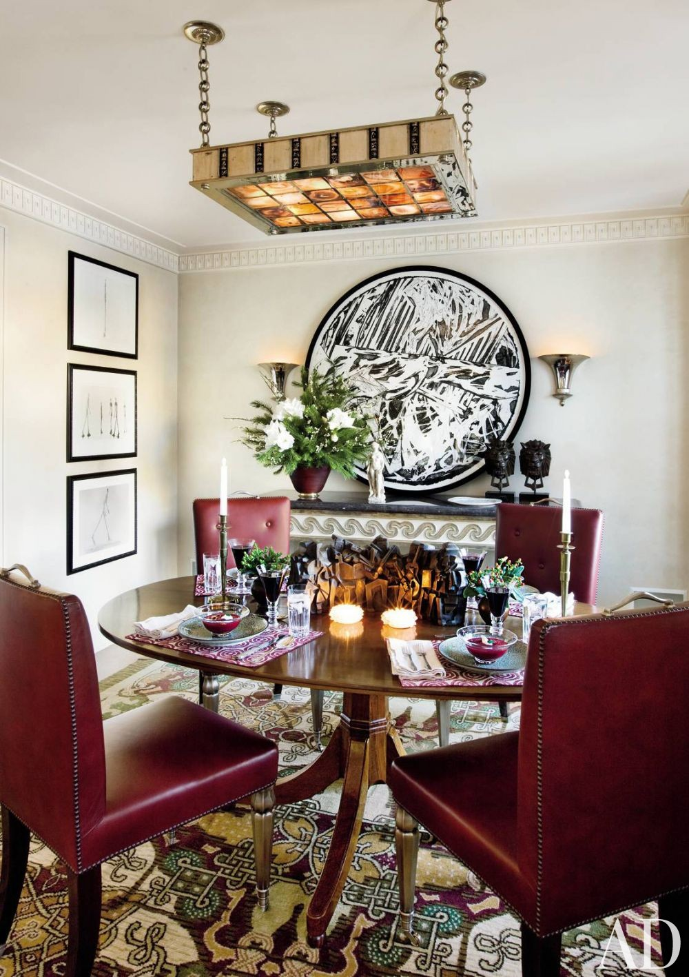 Traditional Dining Room by Arthur Dunnam in New York City