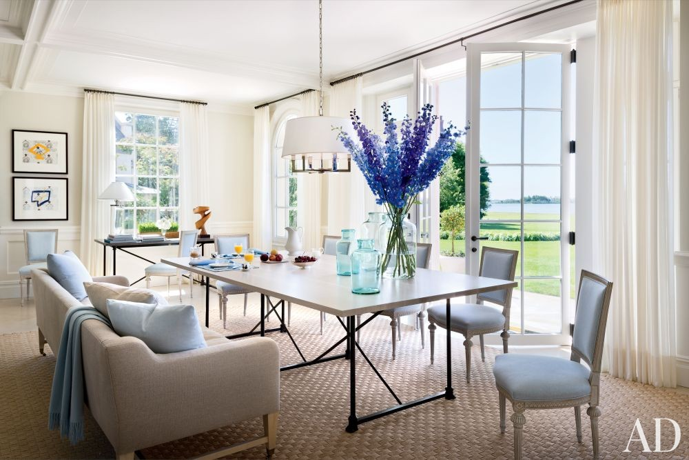 Traditional Dining Room by CarolEgan Interiors and Andre Tchelistcheff Architects in Water Mill, New York