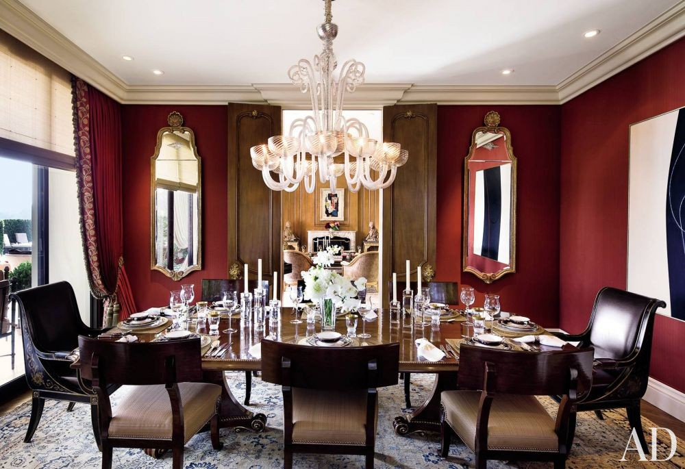 Traditional Dining Room by Donna Livingston in Beverly Hills, California