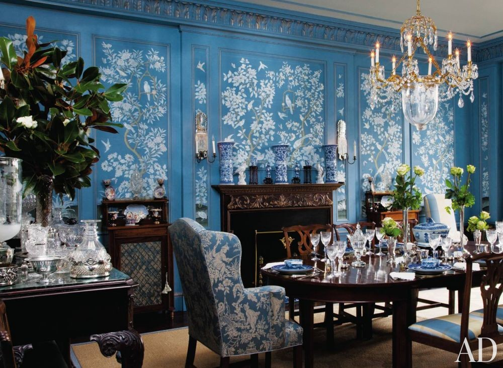 Traditional Dining Room by Friederike Kemp Biggs and George W. Sweeney in New York, New York