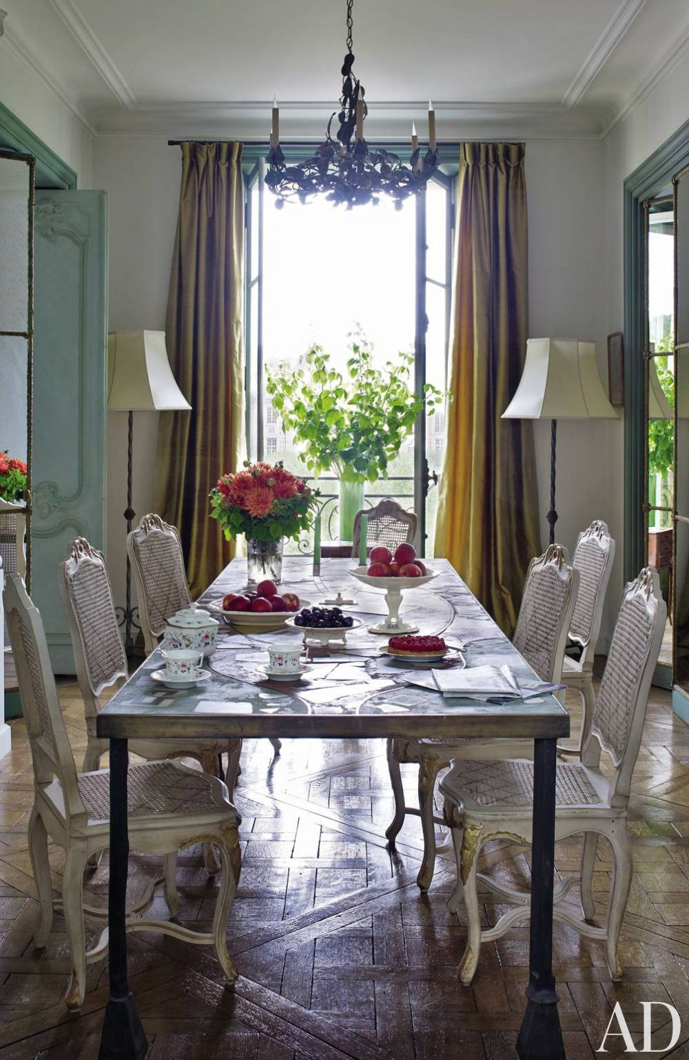 Traditional Dining Room by Jacques Garcia in Paris, France