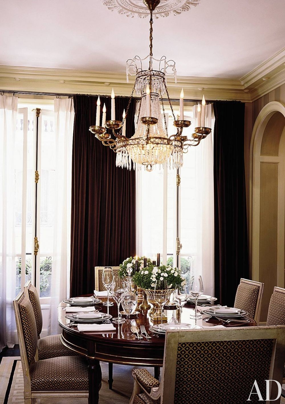 Traditional Dining Room by Jean-Louis Deniot in Paris, France